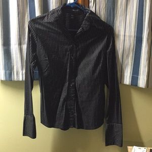 Black and white button up size 4 H&M